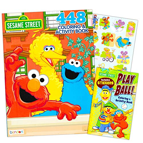 Sesame Street Elmo Coloring Book Jumbo 400 Pages -- Featuring Elmo, Cookie Monster, Big Bird and More! by Sesame Street