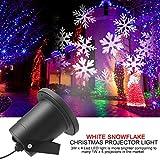 ALAFAT Wasserdichte außenLED Weihnachtsbeleuchtung,Led Projektor Mit wasserdicht IP65 für rotierende Effekte für Halloween Karneval Weihnachten, Innen & außen, Garten,Wand- und auß (White Snowflake)