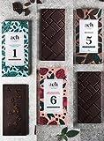Luxuriös Organisch Veganes Schokoladen-Geschenksortiment 3 Geschmacksrichtungen Zuckerfreie Schokolade mit Rosinen und Minze/Zartbitterschokolade/Rose und Schwarzer Preffer