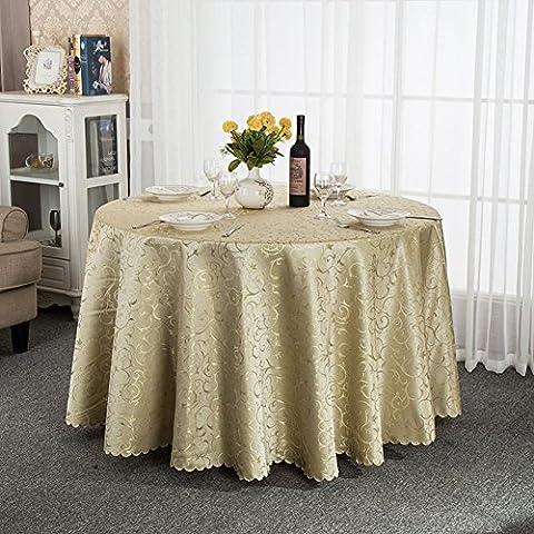 Mantel de Hotel/Continental restaurante Lino de tabla/Redondo grande mesa de centro cuadrada redonda mantel/mantel-B diámetro260cm(102inch)
