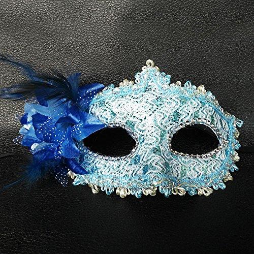 Damjic Halloween Nach'S Maske Frauen Spitze Partei Die Hälfte Maske (Goonies Sloth Die Maske)