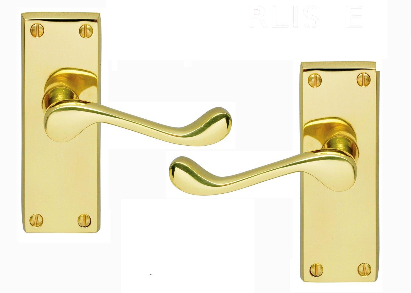 Victorian Scroll Brass Door Handle Set: Quality Carlisle Brass Door Handles: Amazon.co.uk: DIY \u0026 Tools