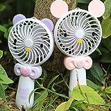 LangToo Piccolo ventilatore tenuto in mano bunnies luce di ricarica usb per bambini piccolo ventilatore palmare desktop, cat
