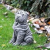Shar Pei Perro Estatua de piedra para jardín Bespoke Memorial decoración del hogar regalo de mascotas