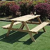 Marko Asiento Pub de jardín parque madera tratada a presión de banco de mesa de picnic de exterior 5FT