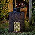Homezone® Large Moroccan LED Candle Lantern Lights Patio Table Lights Battery Operated Garden Lighting Landscaping Lights Indoor Or Outdoor Use. from Homezone®