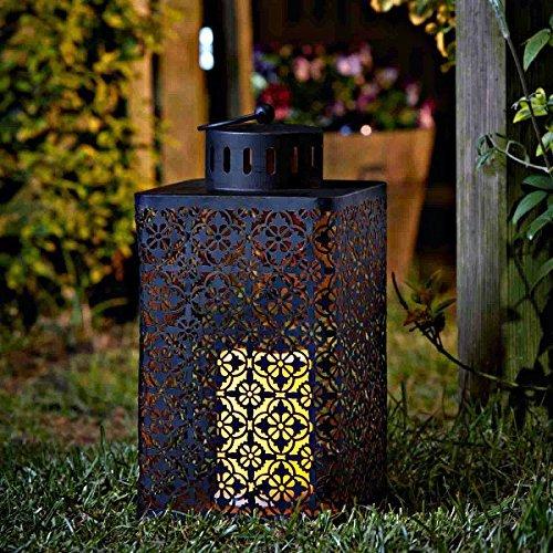Homezone groß Marokkanische LED Kerzen Laterne Lichter Terrassen Tisch Lichter Batterie betrieben Garten Beleuchtung Landschaftsbau Lichter Innen oder Außen Verwendung
