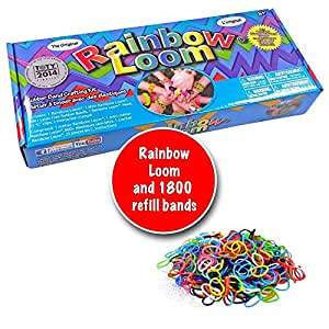 Twistz Bandz Rainbow Loom 2.0, silicone, bracelets, rainbow, looms kit with 1800 band refill