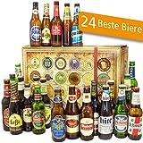Bier Geschenke | 24x BIER AUS ALLER WELT Geschenkbox | Valentinstagsgeschenk Mann