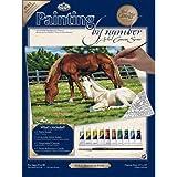 Royal & Langnickel PCL2 - Malen nach Zahlen Künstler Leinwand Serie - Pferde auf der Weide Large