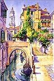 Poster 80 x 120 cm: Reflektionen in Venedig von Paul Simmons - Hochwertiger Kunstdruck, Kunstposter