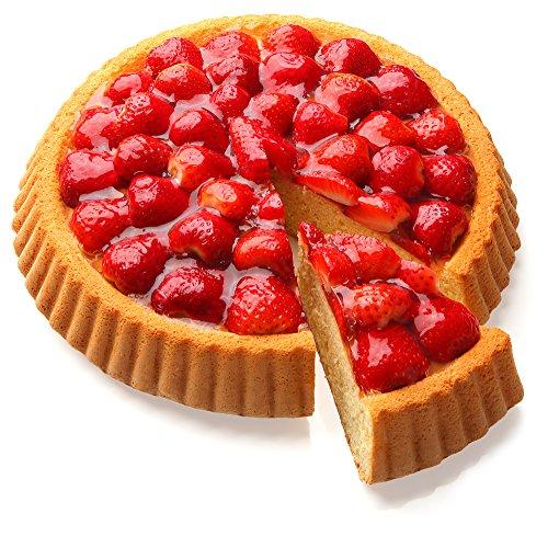 Zenker Obstkuchenform ∅ 28cm aus der Serie Pure, Backform für leckere Obsttorten, Tarte- und Quicheform (Farbe: schwarz), Menge: 1 Stück