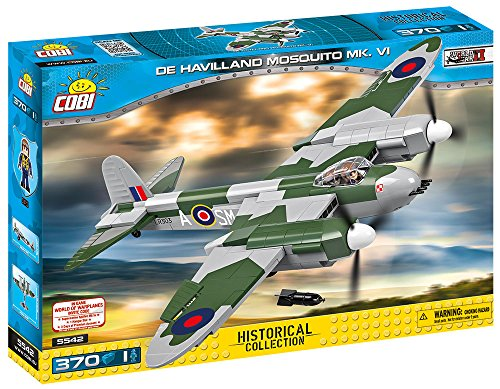 COBI 5542 Konstruktionsspielzeug De Havilland Mosquito MK.VI, Grün/grau/schwarz/weiß