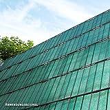 Videx PE Sichtschutzstreifen für Doppelstabmatten, 19 x 200 cm, dunkelgrün