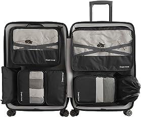 Kleidertaschen Packing Cubes Packwürfel im 7-teiligen Sparset