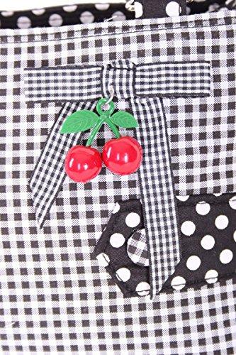 SugarShock Karlotta Polka Dots Gingham Kirschen Rockabilly Uniform Tasche Handtasche -