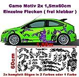 Stickerbomb Camo 2x 2m Camouflage Camo einzelne Flecken Autoaufkleber Aufkleber Sticker Folie Style Bodystyle Karosserieaufkleber Karosseriefolie