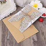 Hergon(Eine Packung mit 10 Sets) Hochzeit kurze Einladungen HK-703D Pop Up Grußkarte Handgefertigten Zufrieden Geburtstag Frohe Weihnachten Geschenke