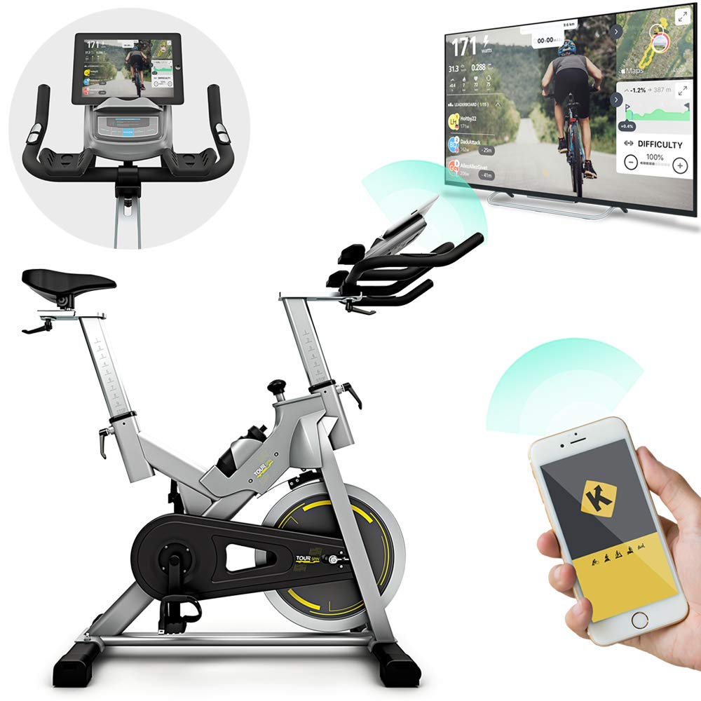 Bluefin Fitness Heimtrainer Tour Spin, Studio Spinning Bike, LCD Bildschirm