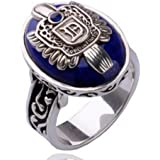 lovelystone Vampire Damon Salvatore de crónicas vampíricas dedo familia con el escudo del anillo
