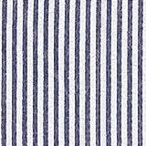 Fabulous Fabrics Seersucker gestreift – Marineblau —