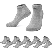 Falechay Athletic Ankle Socks 10 Pairs Breathable Low Cut Sports Trainer Socks for Men Women