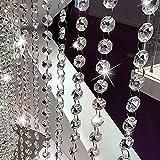 Kristall Girlande, Octagon Glas-Perlen Kette String Vorhang Panel für zu Hause, Party-Tisch Tischschmuck, Baum, Weihnachten Dekoration