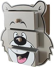 Chingora Collections Wooden Desk/Table Animal Bear Teddy Drawer Set Organizer Storage