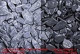 10 Säcke a´20 Kg, Canadian Slate Schwarz getrommelt 15-30mm, Zierkies (9879001243)