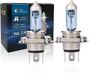 Halogen H4 Scheinwerferlampe Birne 60 55w 12v Auto Abblendlicht Fernlicht Glühlampen Mit Zulassung 2 Stück Auto