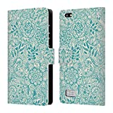 Official Micklyn Le Feuvre Teal And Cream Floral Patterns