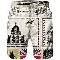 Westtreg Pantalones Cortos de pantalón Corto de Hombre Impreso Men 3D Beach, XXL
