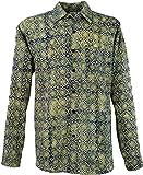 Guru-Shop Goa Hippie Hemd, Herrenhemd, Beige, Baumwolle, Size:L, Männerhemden Alternative Bekleidung