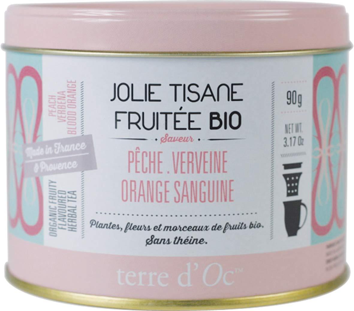 Terre-dOc-Bio-Krutertee-mit-Pfirsich-Eisenkraut-und-Blutorange-in-dekorativer-Metalldose-90-g