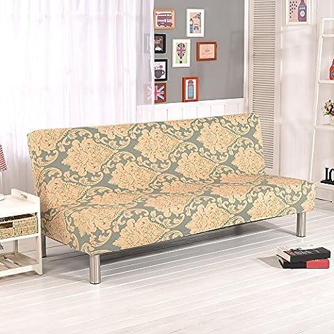 Floral Prints sans accoudoirs Canapé couvertures, Polyester Spandex Tissu stretch Housses places Canapé écran Compatible avec lit de canapé pliable sans accoudoirs