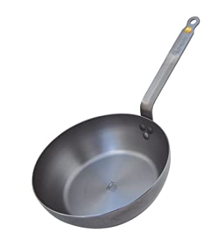 De Buyer 5614.24 Mineral B Element Round Country Frying Pan, 24 cm ...