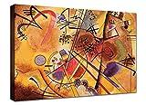 Quadri Moderni cm 100x70 XXL Stampa su Tela Canvas Kandinsky 03 Arredo Soggiorno Arte casa