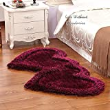 Brand New Hand loom Modern Stone 5D shaggy Double Heart rugs and carpets for living room, hall, Non slip Decorative for marriage room