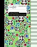 Blank Sheet Music: Music Manuscript Paper / Staff Paper / Musicians Notebook Book Bound Perfect Binding * 12 Stave * 100 Pages * Large * Music Panda (Composition Books - Music Manuscript Paper)