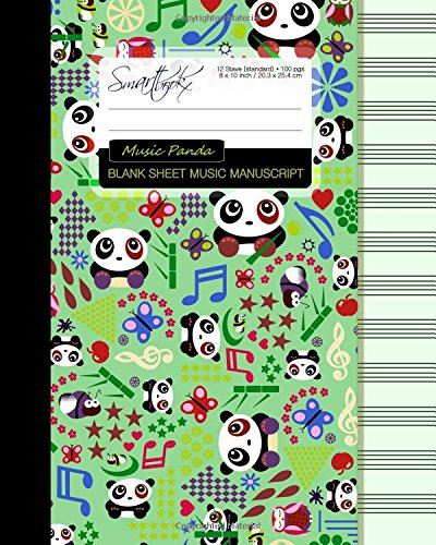 Blank Sheet Music: Music Manuscript Paper / Staff Paper / Musicians Notebook [ Book Bound (Perfect Binding) * 12 Stave * 100 pages * Large * Music Panda ] (Composition Books - Music Manuscript Paper)
