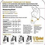 Cashel Crusader Fly Mask UV-Schutz Fliegenmaske mit Ohren