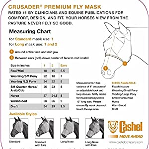 Cashel with Ears Standard Fly Mask