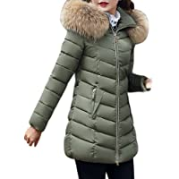 MBBYLIVES Cappotti Piumino Donna Eleganti con Collo di Pelliccia Giubbotto Donna Inverno Primaverile Termica Taglie…