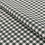 Hans-Textil-Shop Stoff Meterware Karo 5x5 mm Dunkelgrün