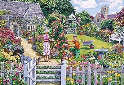 Gibsons The Gardener's Round Jigsaw Puzzle, 4x500 piece