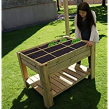 Mesa de cultivo Huerto urbano con bandeja y separadores 80x120x80 cm