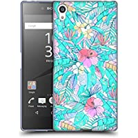 Official Micklyn Le Feuvre Pretty Pastel Hawaiian Florals Soft Gel Case for Sony Xperia Z5 Premium / Dual