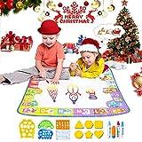 Aomeiqi Mat Doodle Mat Child 78 * 78CM, Maxi Mat Aquadoodle o Dibujo Magic Water Display 6 Colores con 4 Plumas 12 Moldes y Manual de Educación para bebé Niño