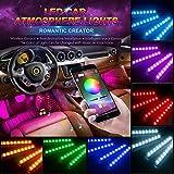 Watopi - Tira de luces LED para debajo del salpicadero de coche (48 ledes, 12 V, cambia de color, resistente al agua)