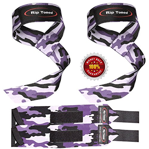 lifting-straps-wrist-wraps-bundle-1-pair-of-each-by-rip-toned-bonus-ebook-for-weightlifting-crossfit